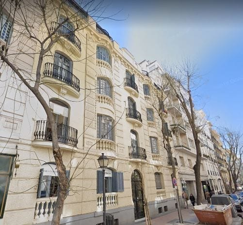 Inmueble Calle Hermosilla 60 Madrid. Google Maps