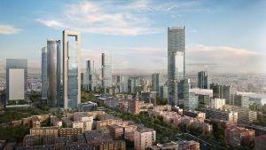 Madrid Nuevo Norte con Cuatro Torres