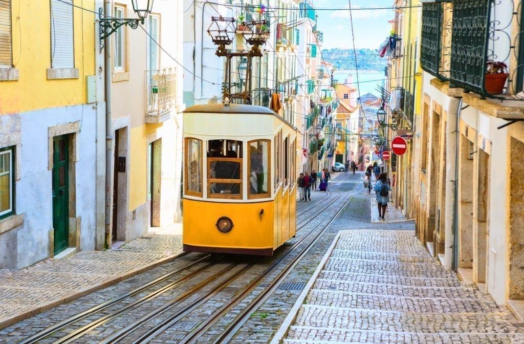 Imagen del famoso tranvía de Lisboa.