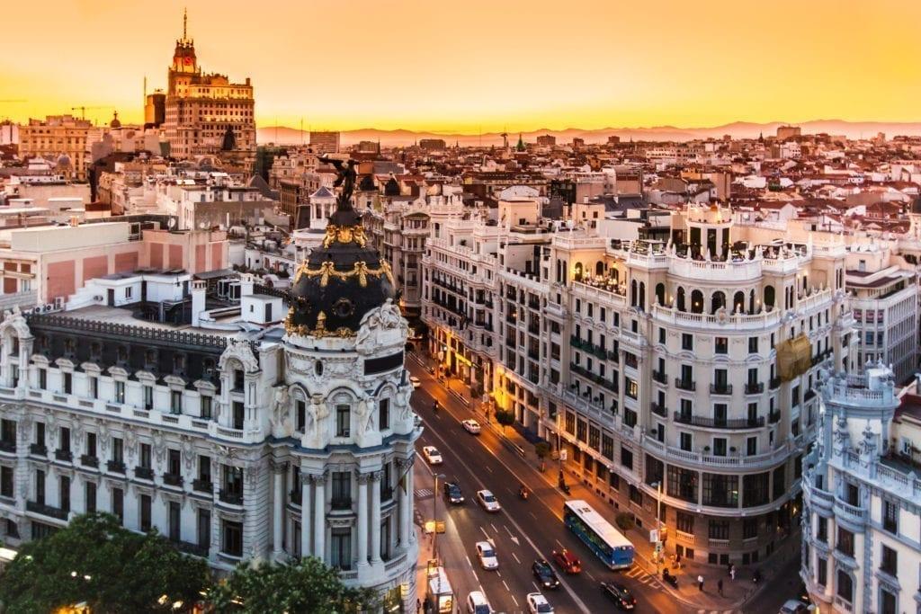 afluencia Gran Vía Madrid