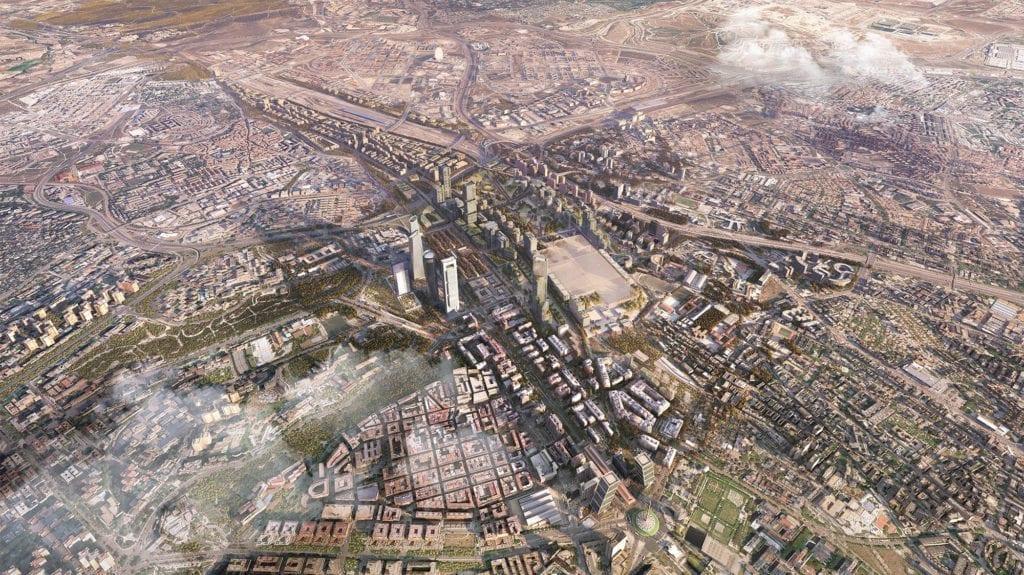 Madrid Nuevo Norte vista aérea