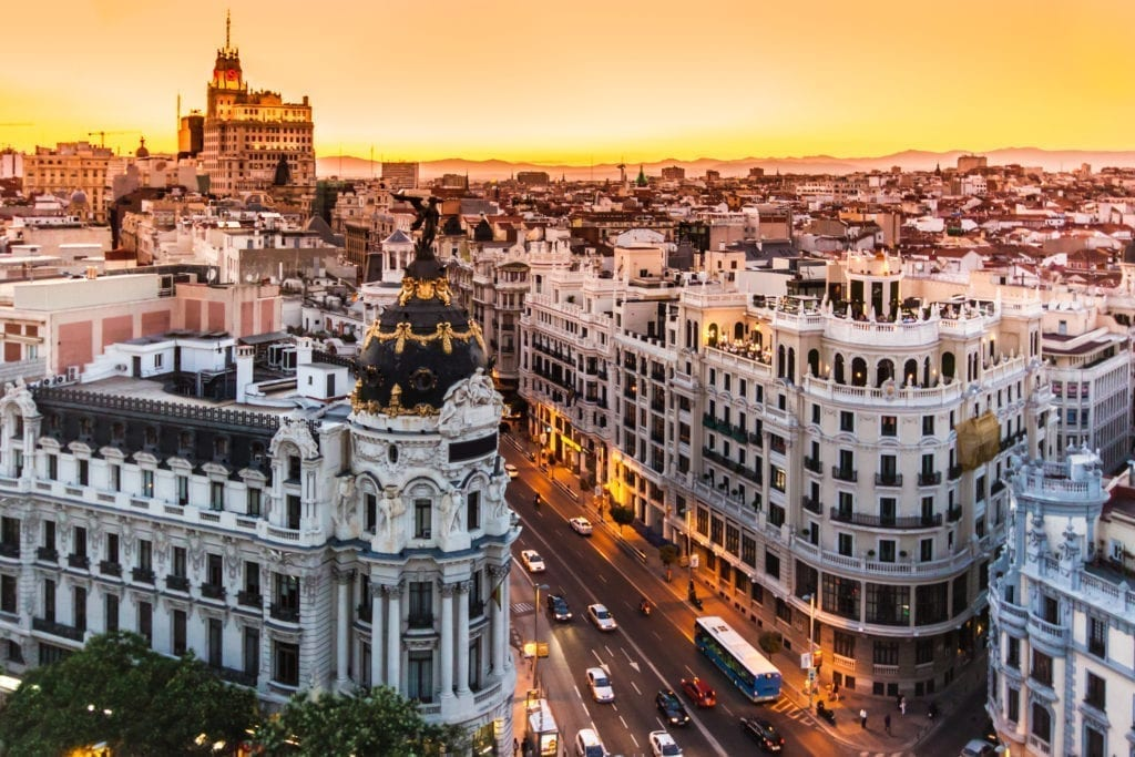Madrid's Gran Vía Retains its Appeal During the State of Emergency