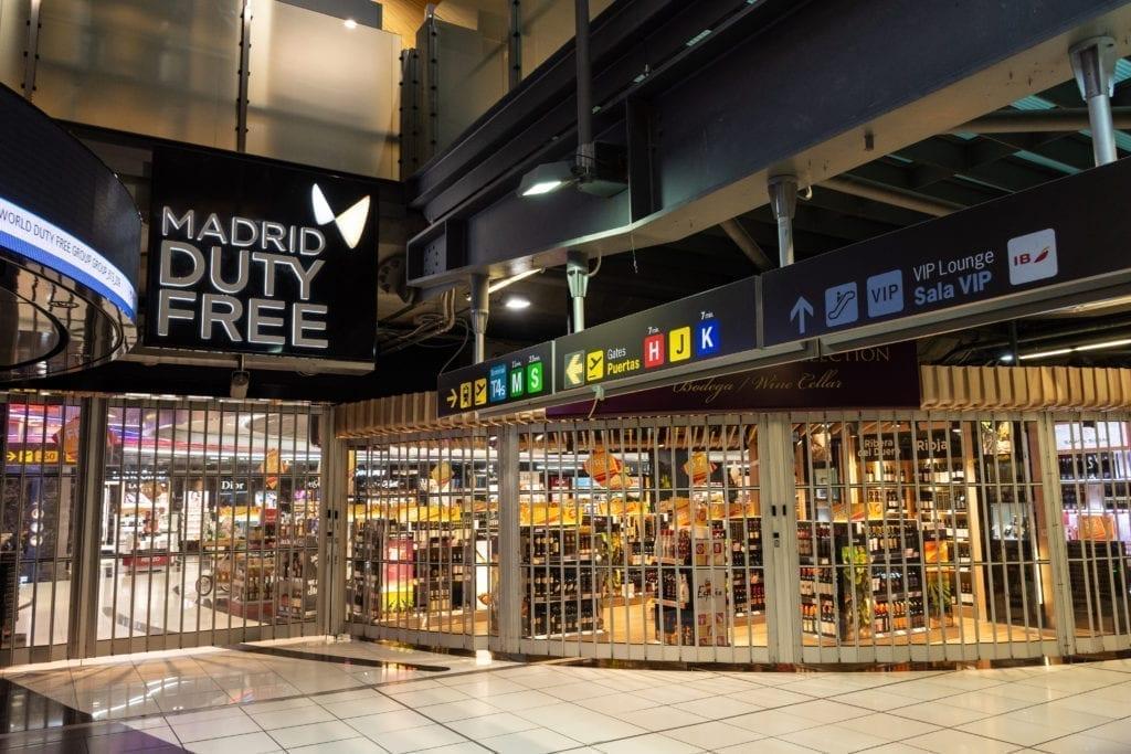 Aena Aeropuerto Madrid Dutty free