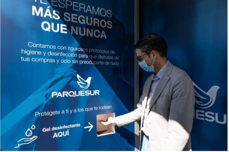 Parquesur lanza una campaña para promover la higiene y desinfección en la zona sur de Madrid