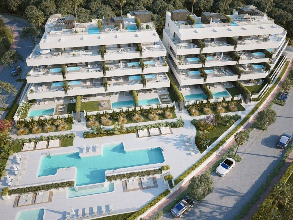 vivienda terraza piscina Gilmar Estepona