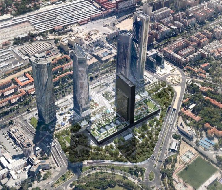 Espacio finaliza las obras de Caleido y completa el distrito financiero de las Cuatro Torres