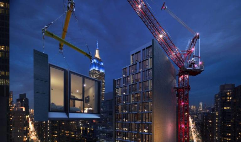 AC Marriott construye el hotel modular más alto de Nueva York