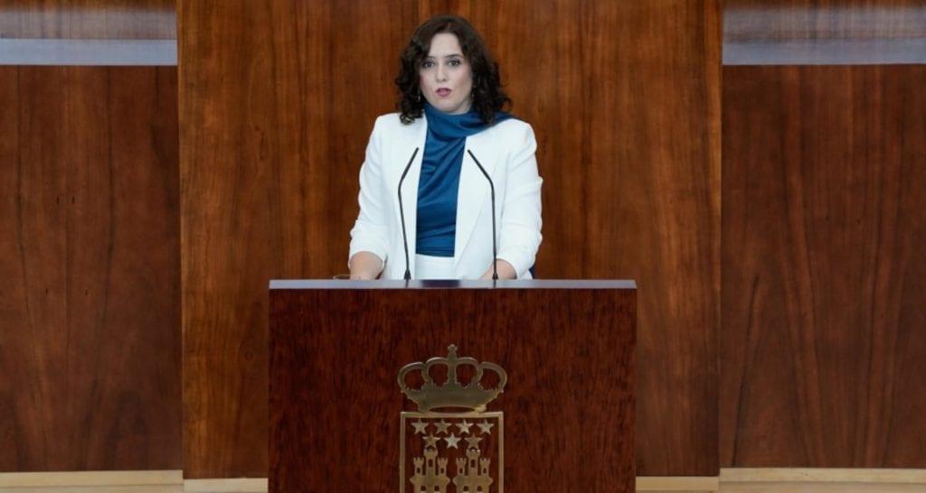 isabel diaz ayuso en el debate sobre el estado de la region