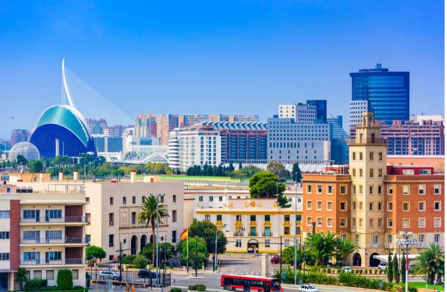 Imagen digital de la ciudad de Valencia donde se ubican las oficinas analizadas en este artículo