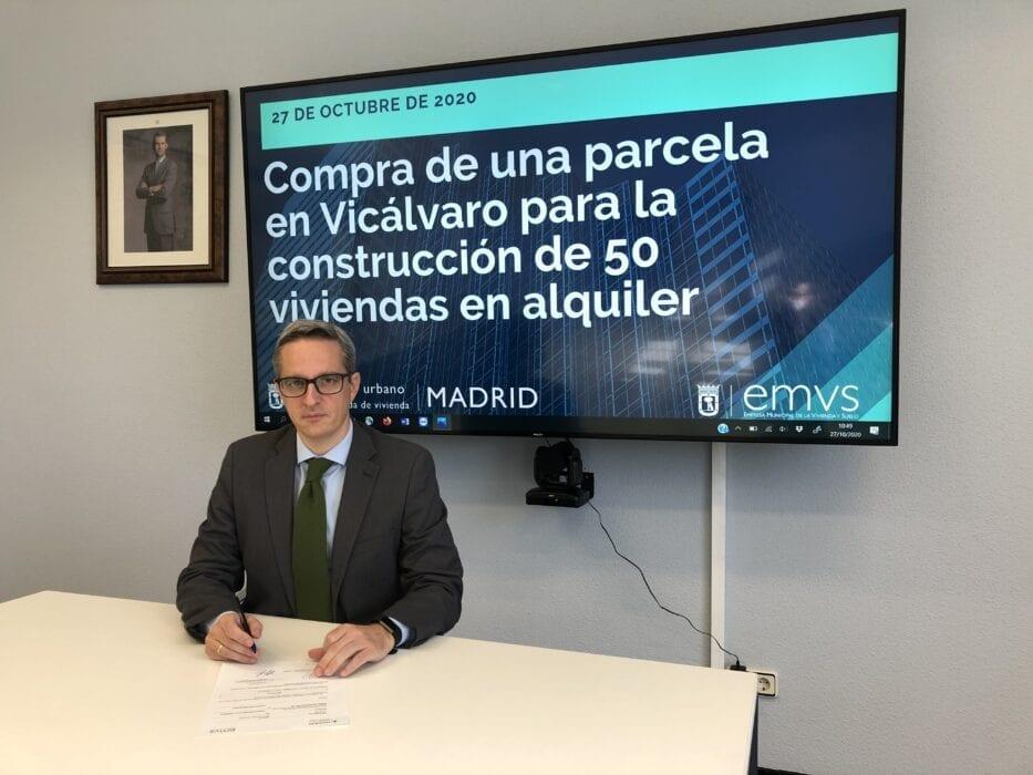 Diego lozano consejero delegado de la Empresa Municipal de Vivienda y Suelo de Madrid EMVS 1