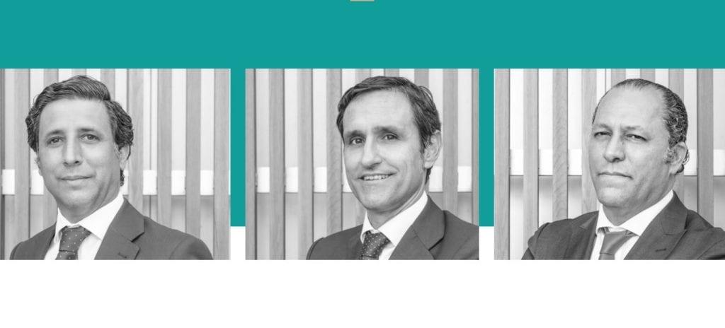 Directivos de Borneo Pablo Pavia Manuel Pavia y Jose Miguel Silvestre