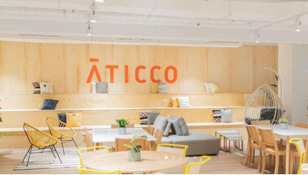 Espacio coworking de Aticco en Madrid Fuente Aticco