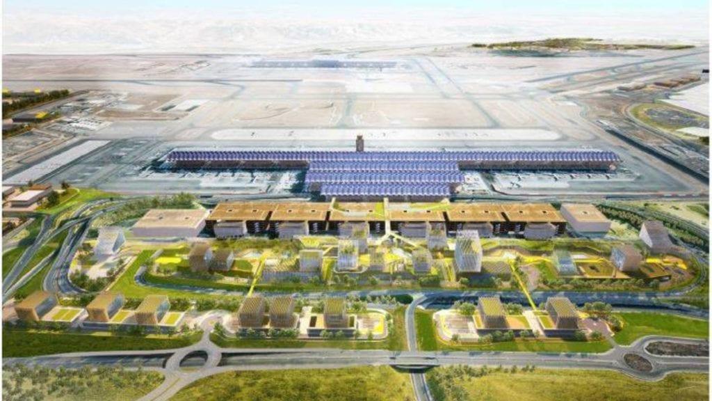 Proyeccion de la ampliacion del aeropuerto de Madrid