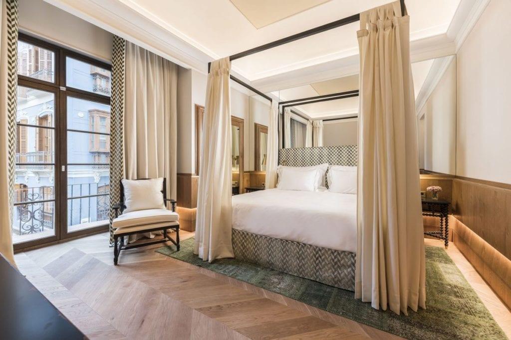 Imagen de una habitación del sector hotelero