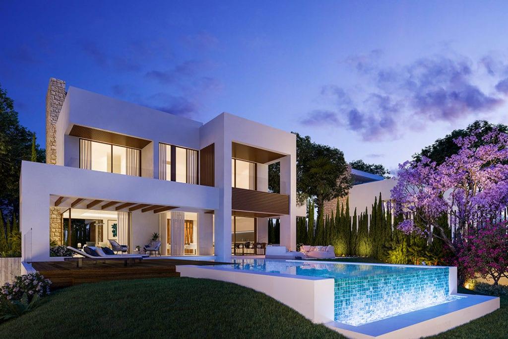 Imagen de una vivienda de lujo en la Costa del Sol