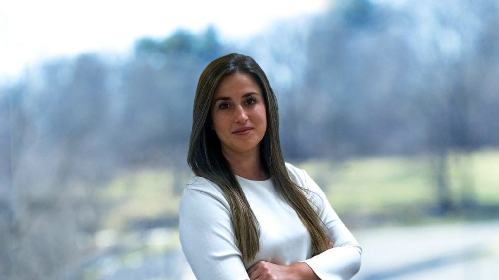 Patricia Sánchez de XPO Logistics posando