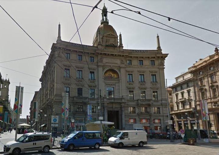 Antigua sede de Generali en Milán donde se ubicará el nuevo Gran Meliá en 2023