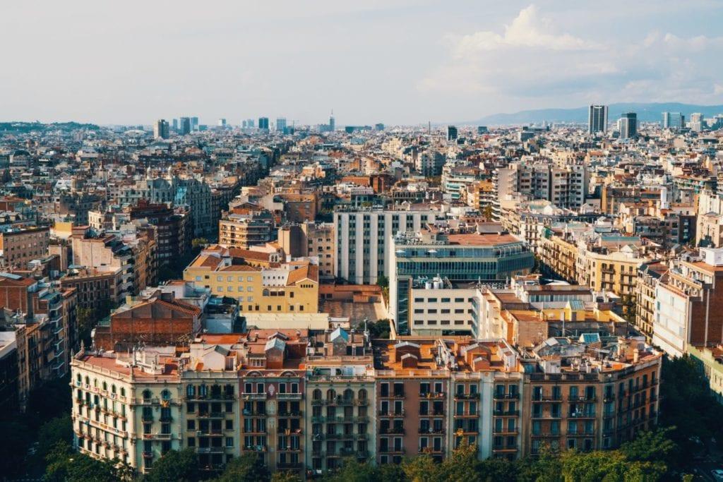 Imagen del centro de Barcelona donde se está recuperando la afluencia