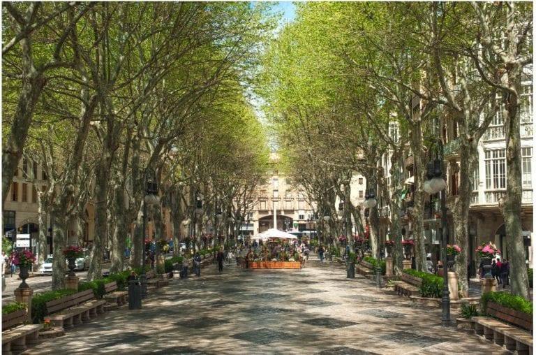 Las arterias comerciales de Mallorca, Bilbao y Valencia superan los registros pre-Covid