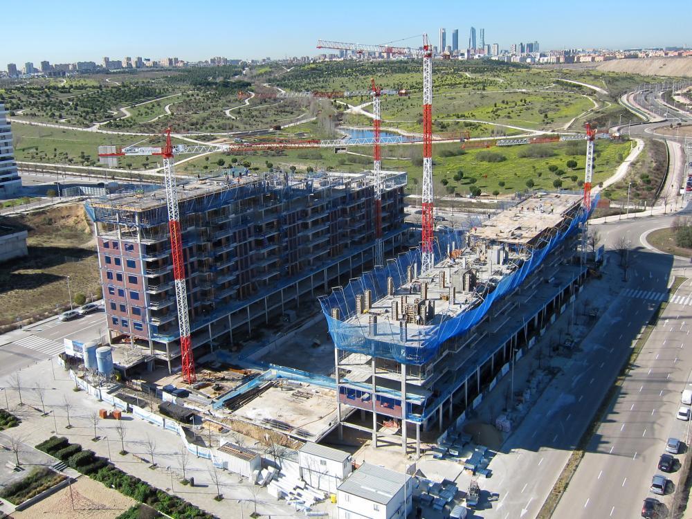 obras de viviendas en construccion de Amenabar en Valdebebas Madrid