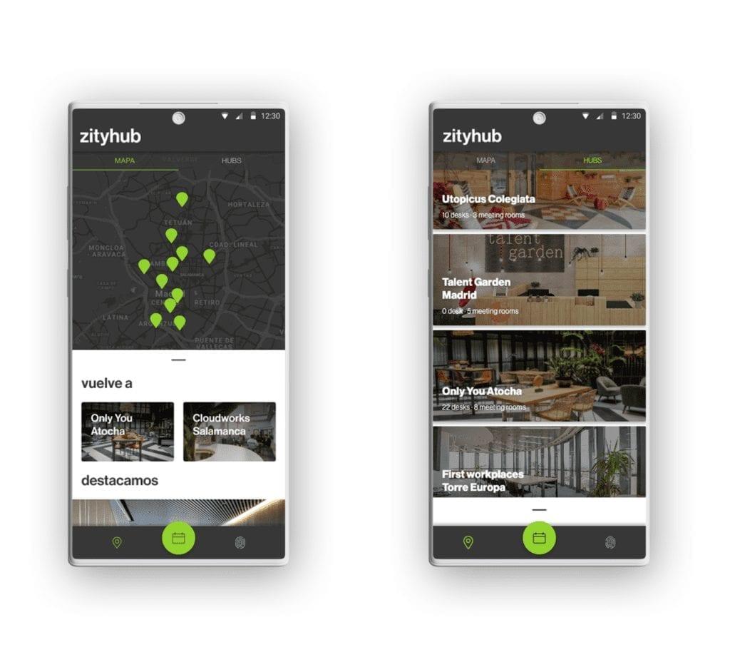 Imagen de la plataforma de Zityhub