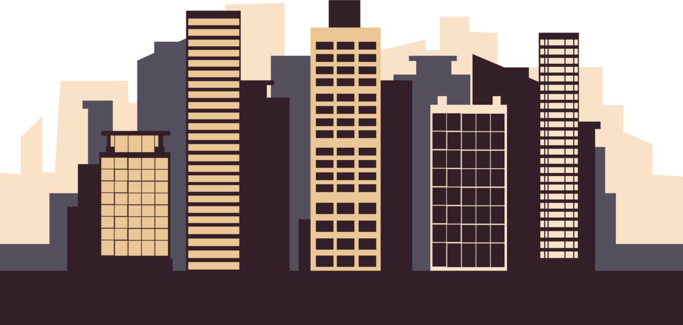 ilustracion edificios rascacielos fuente Gmoyrak shutterstock