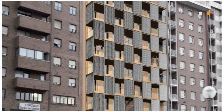 Nasuvinsa proyecta un edificio de madera para personas mayores en Pamplona
