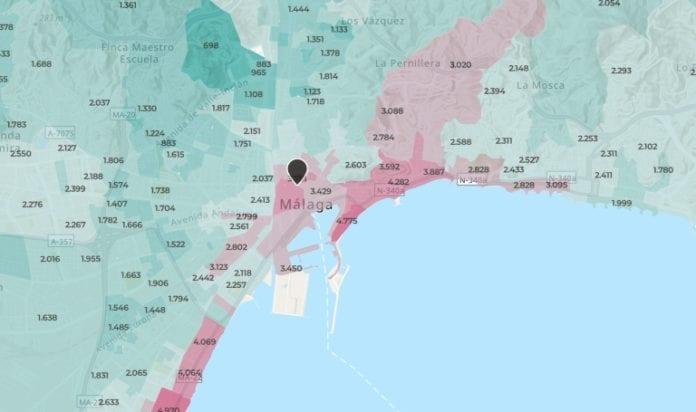 mapa brainsre malaga capital precios asking