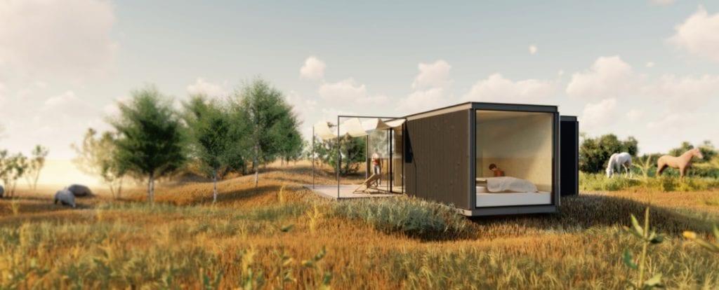 recreación de una vivienda industrailizada de Tiny Home