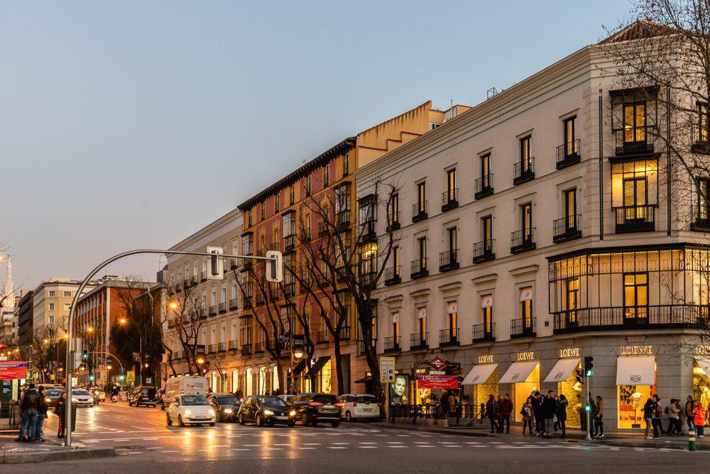 Calles comerciales de Goya y Serrano milla de oro madrid