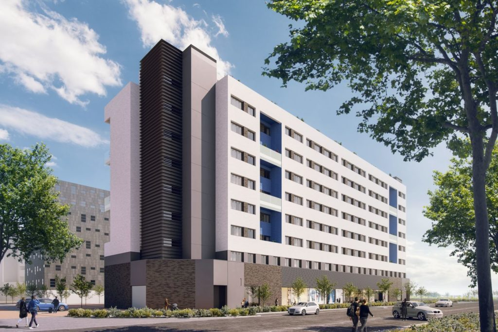 edificio viviendas alquiler VALLECAS catella sarasin baja