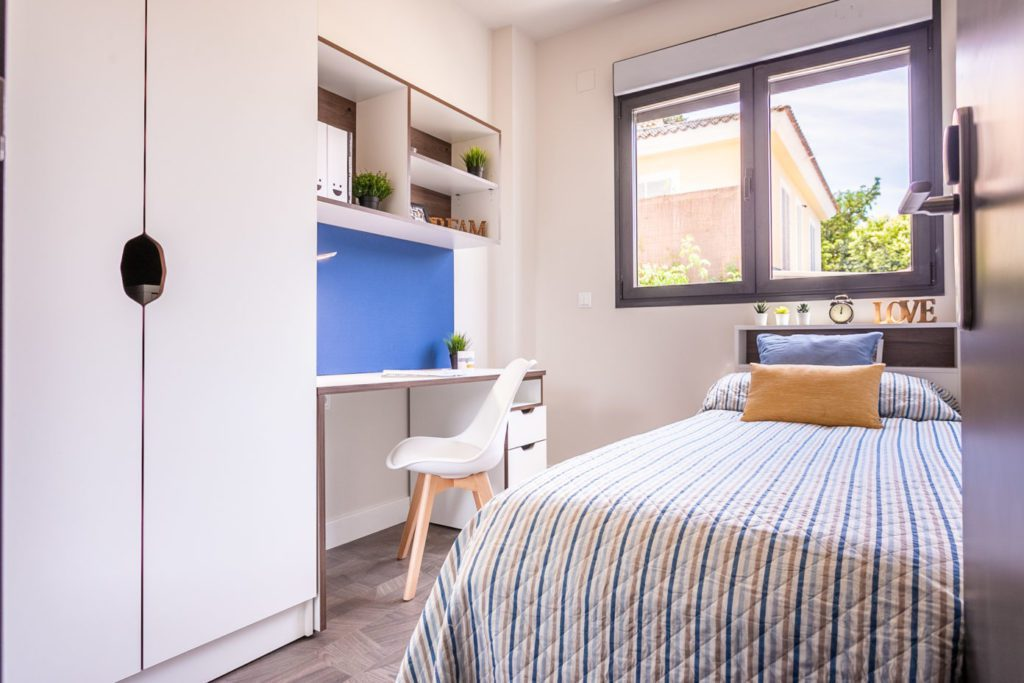 habitacion individual apartamento doble